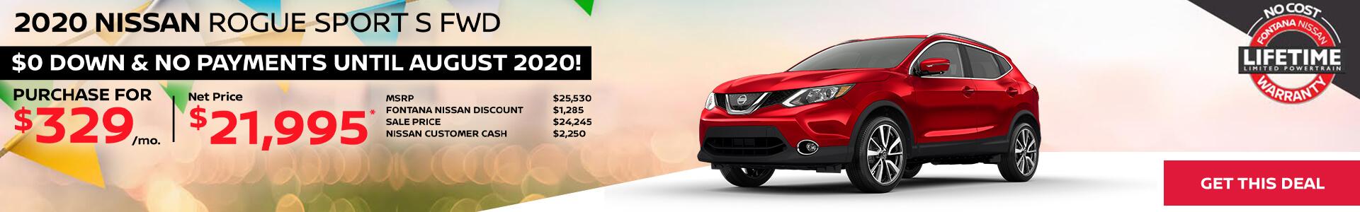 Nissan Rogue Sport $329