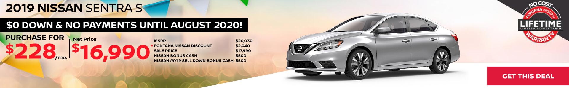 Nissan Sentra $228