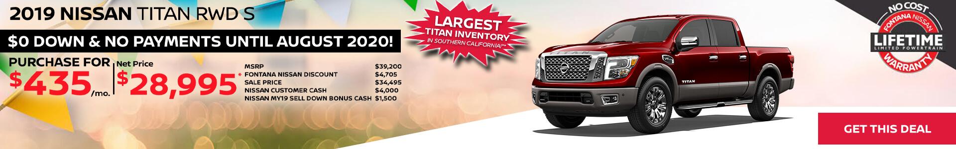 Nissan Titan $435