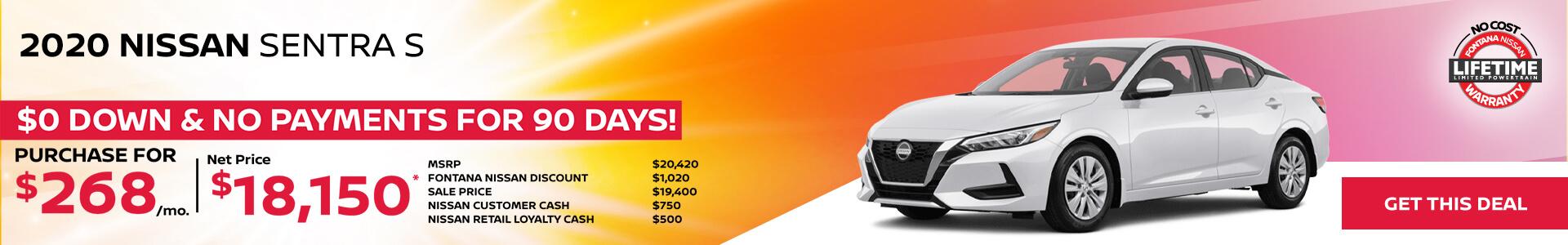 Nissan Sentra $268