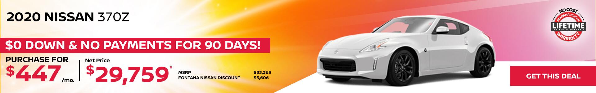 Nissan 370Z $447