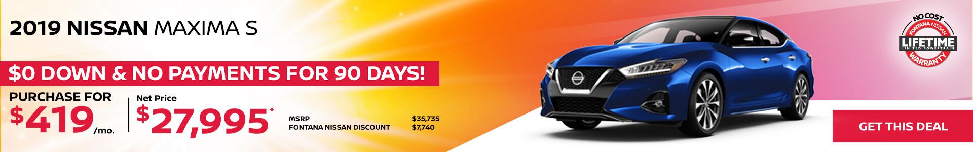 Nissan Maxima $419