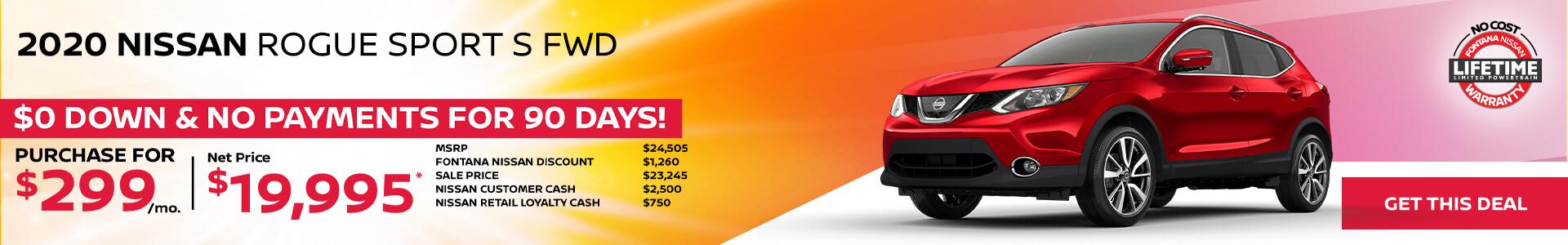 Nissan Rogue Sport $299
