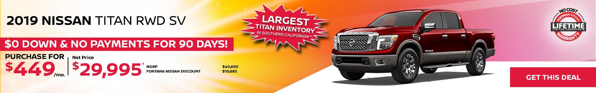 Nissan Titan $449