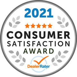 DealerRater - 2021 Consumer Satisfaction Award