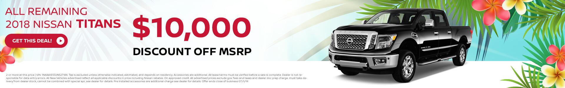 2018 Nissan Titan - $10,000 Off MSRP
