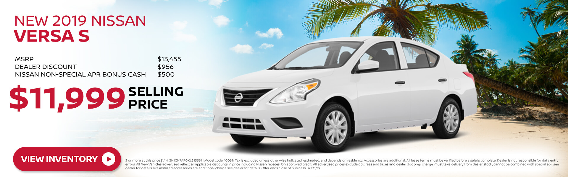 2018 Nissan Versa - Purchase for $13,455