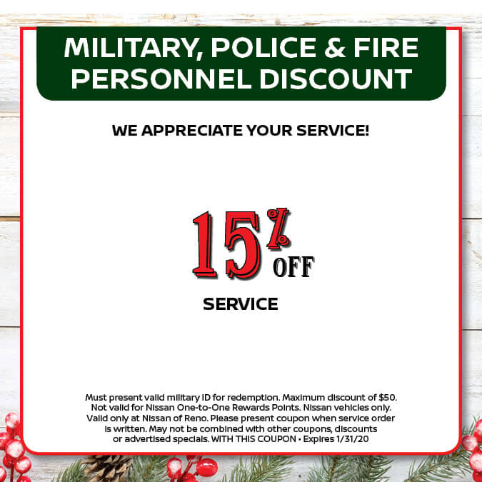 Military, Police & Fire Personnel Discount