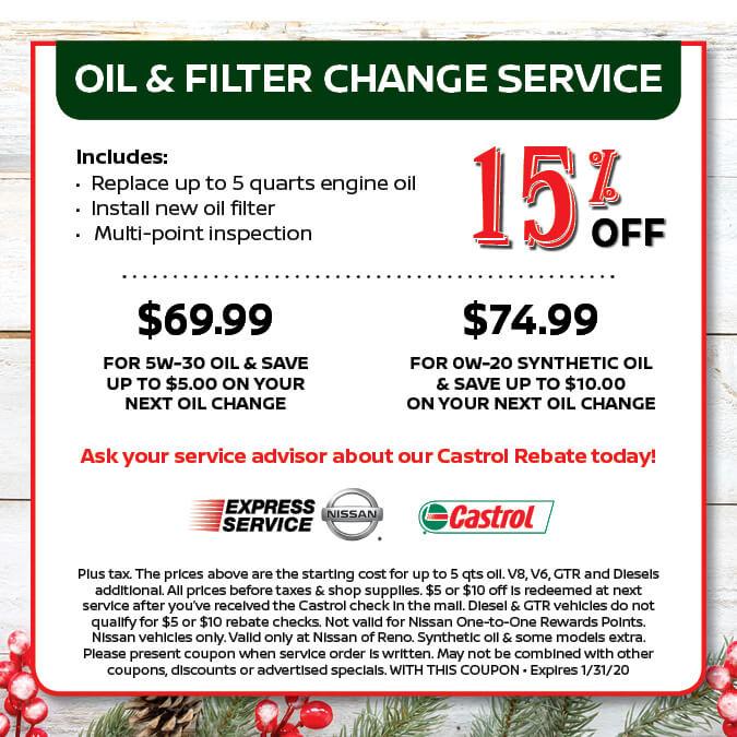 Oil & Filter Change Service