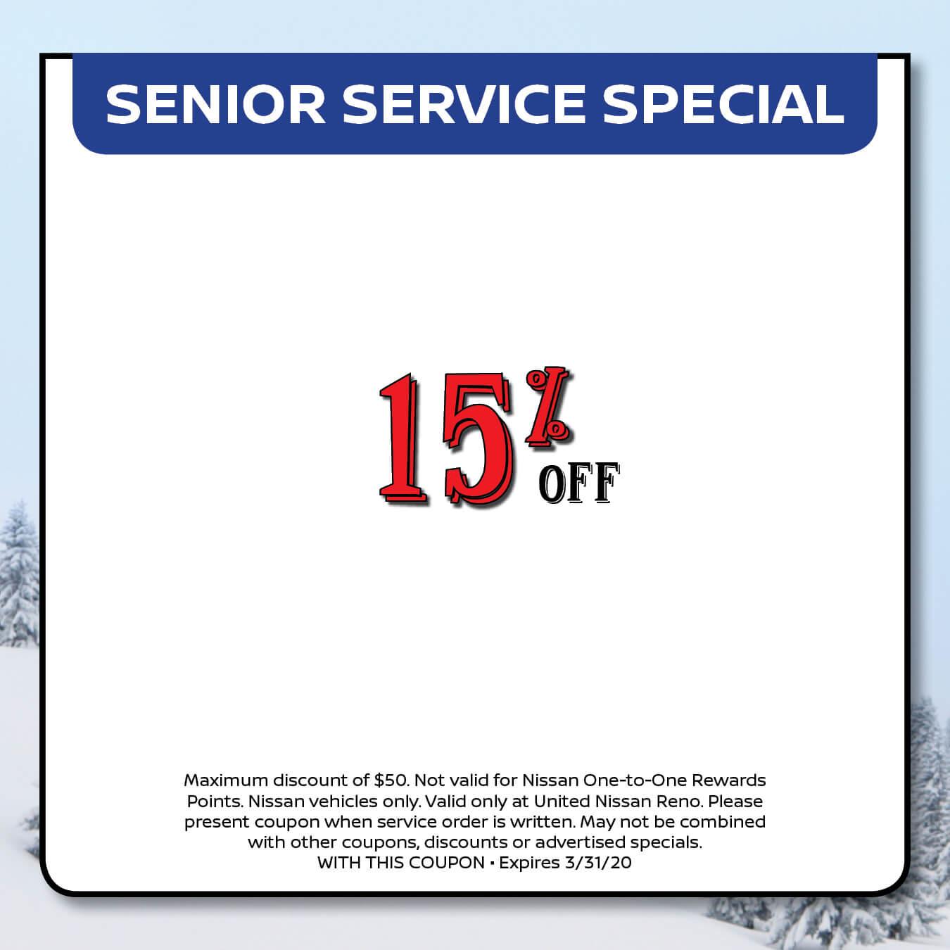 Senior Service Special
