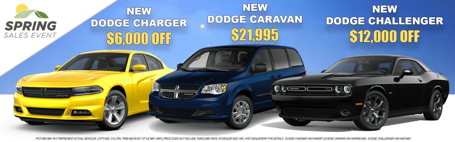 Dodge 3 Cars-Spring Sales Event
