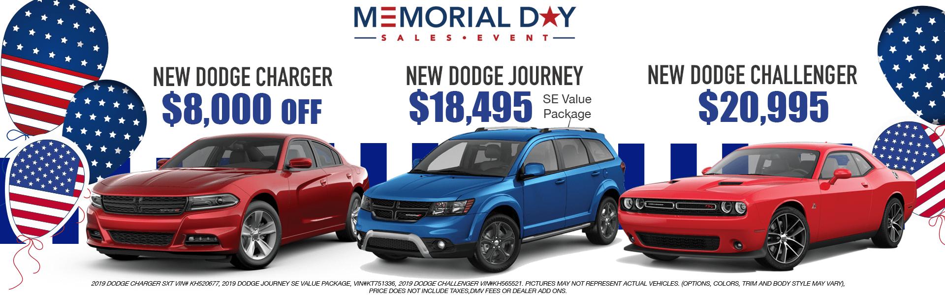 Dodge: Charger,Journey,Challenger