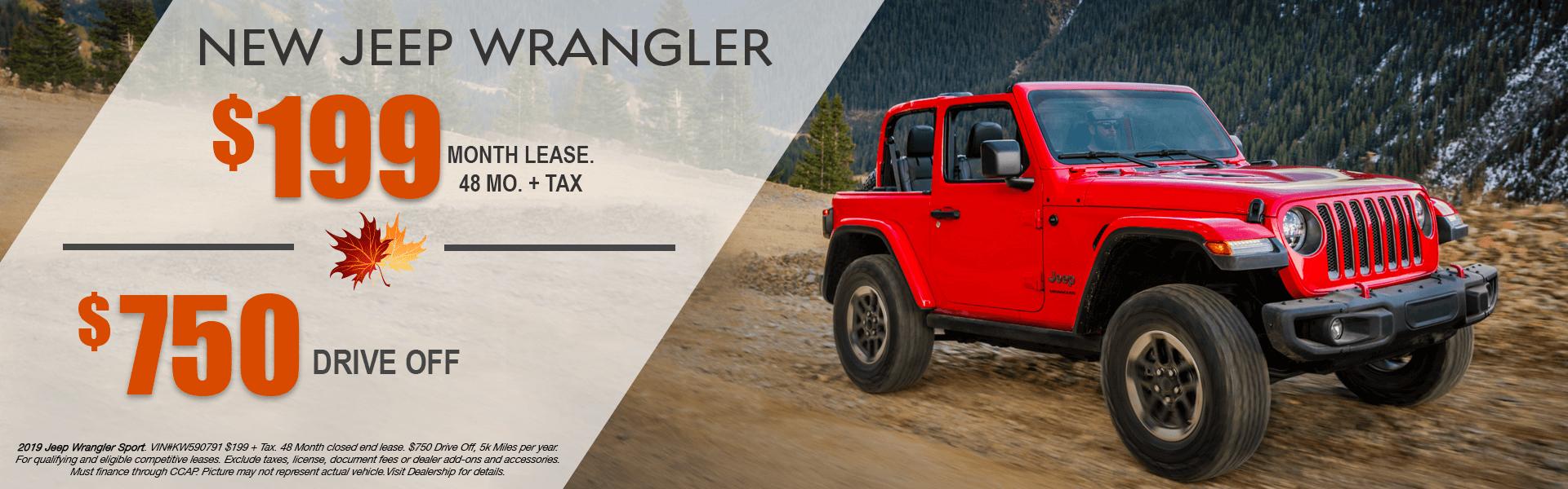 Jeep Wrangler Sport (Lease)-FALL