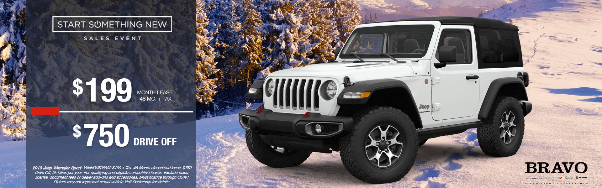Jeep Wrangler $750 Drive Off
