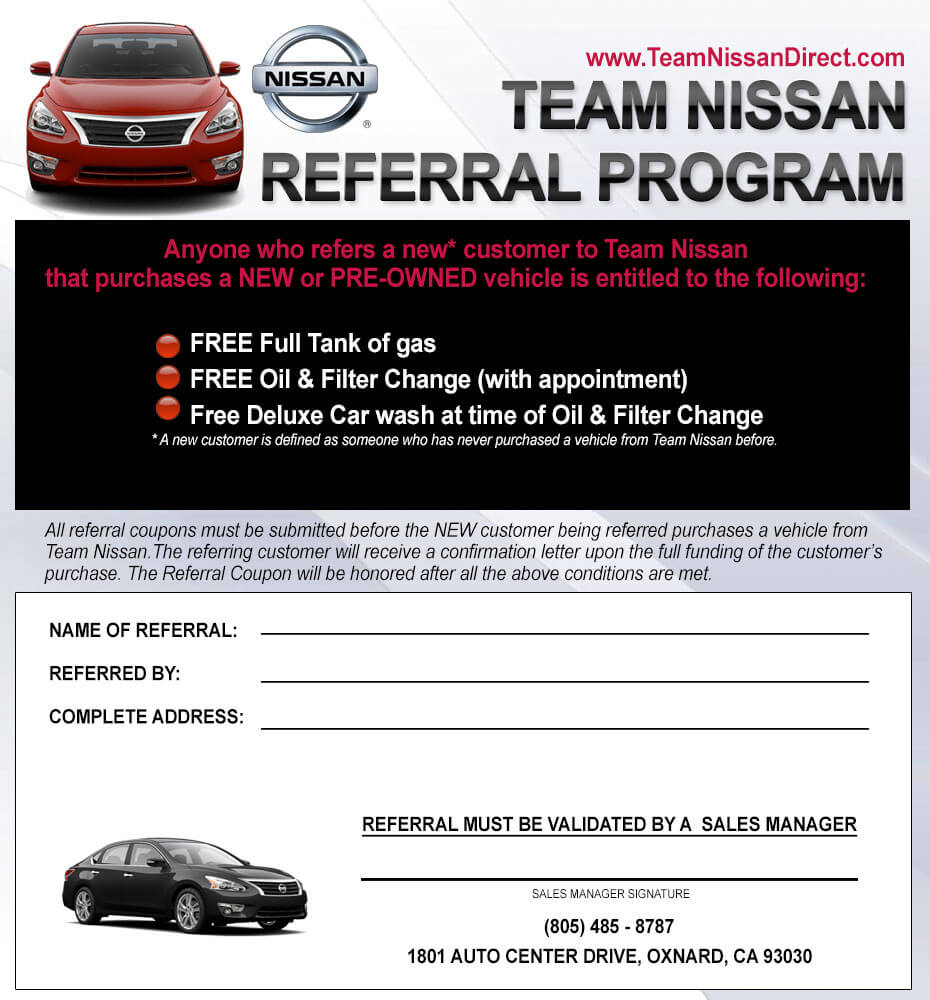 Nissan Car Lease Specials