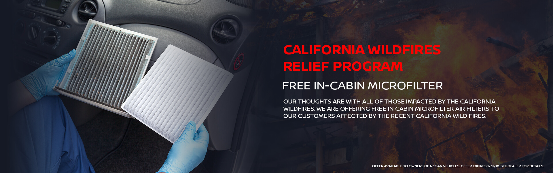 Free In-Cabin Microfilter