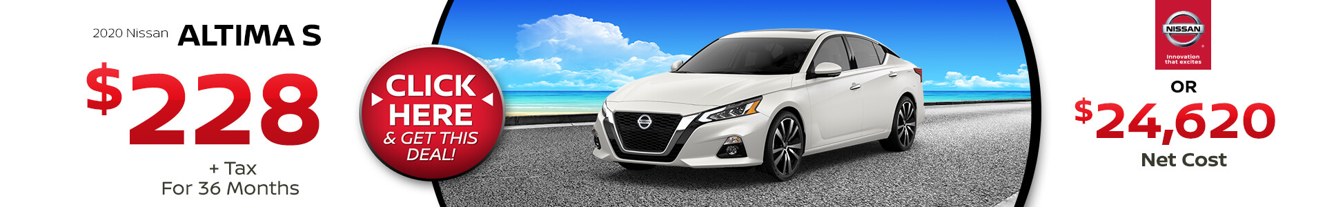 2020 Nissan Altima Lease for $$238