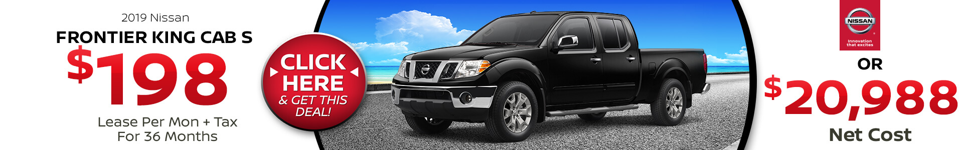 Nissan Frontier $198 Lease