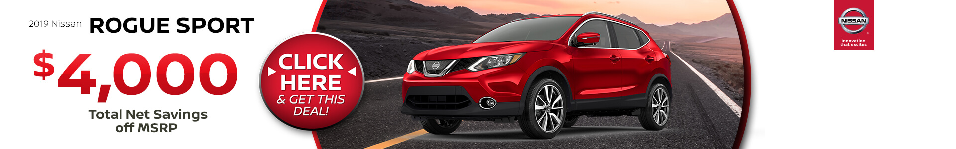 Nissan Rogue Sport $188 Lease