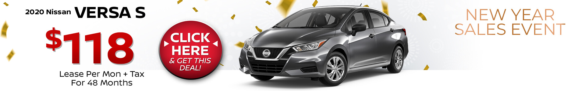 2020 Nissan Versa Lease for $118