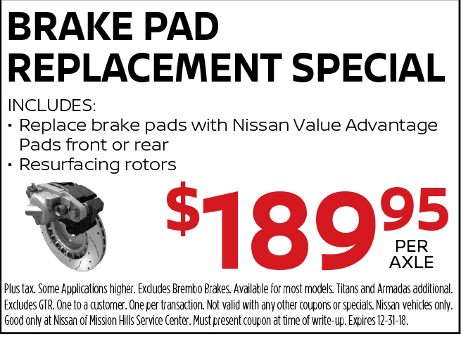 Brake Pad Replacement Special