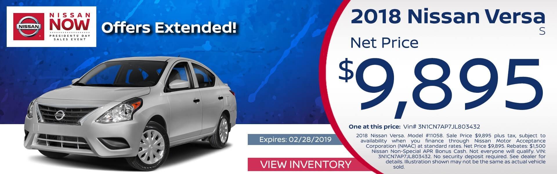 Versa Sedan Net Price