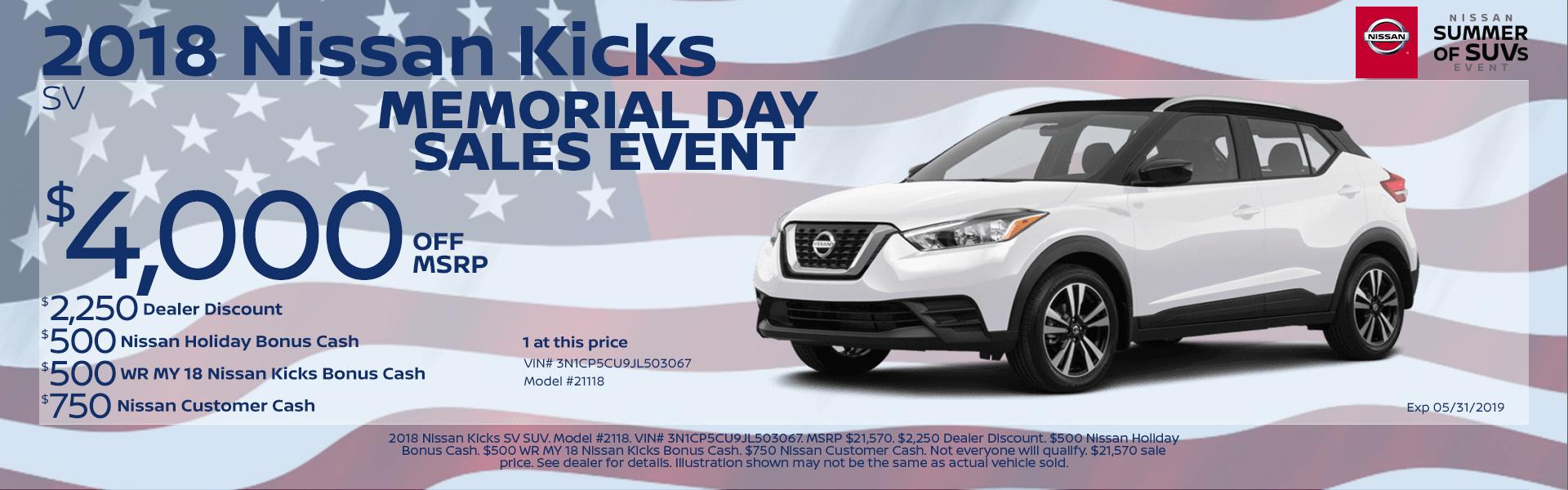 2018 Nissan Kicks Special