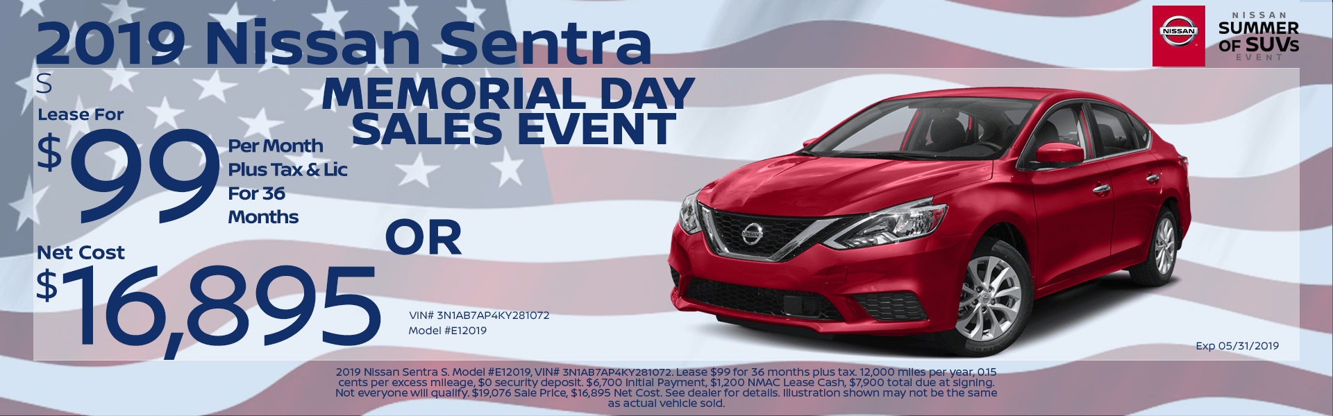 2019 Nissan Sentra Special