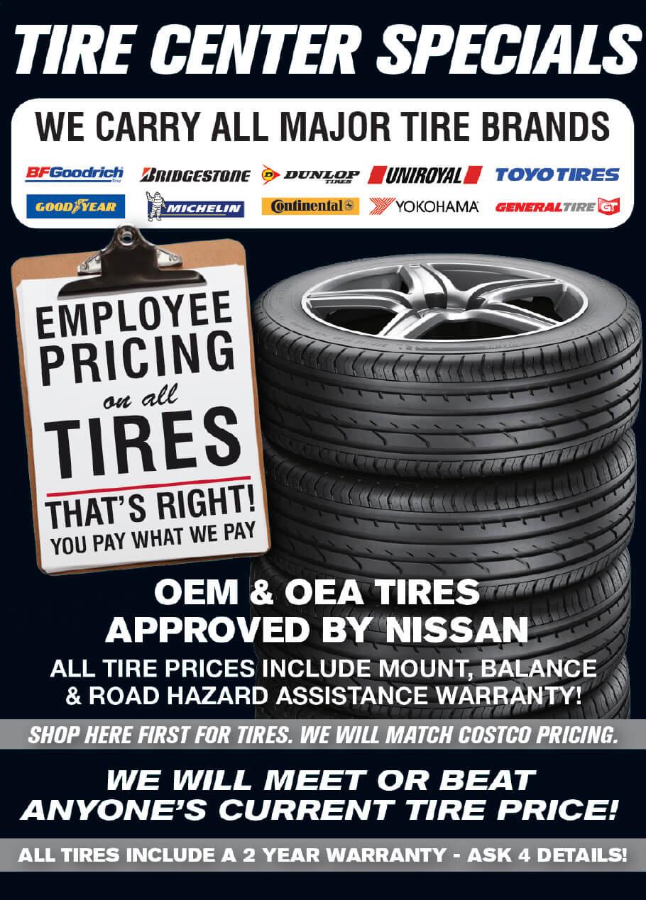 Tire Center Specials