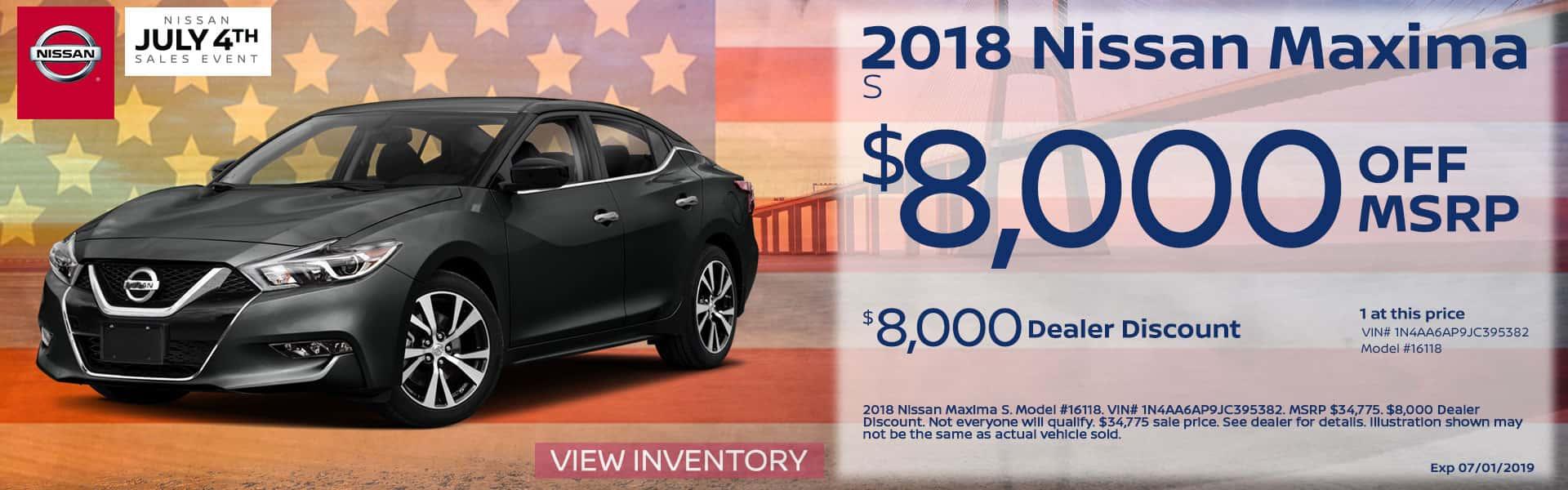 2018 Nissan Maxima Special