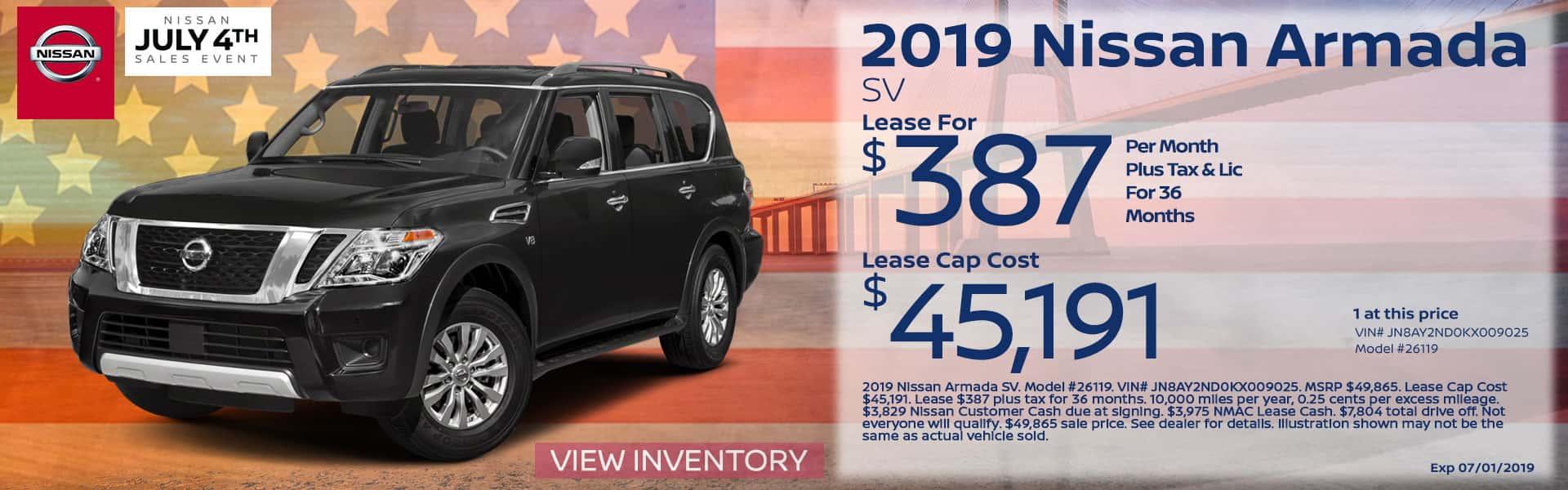 2019 Nissan Armada Special