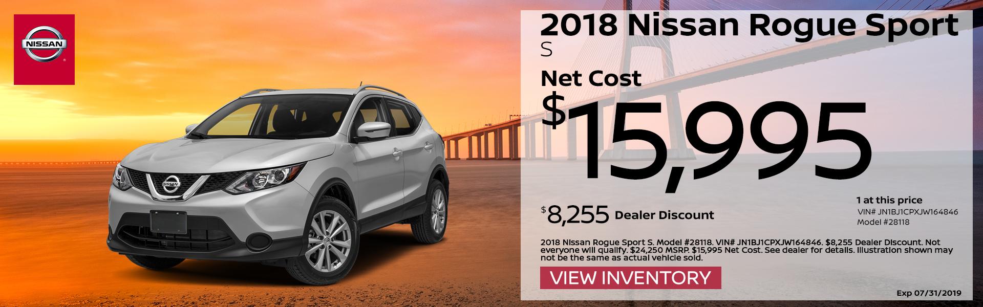 2018 Nissan Rogue Sport Special