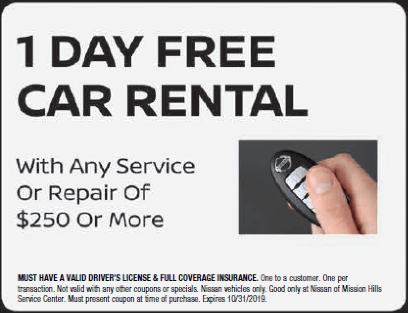 1 Day Free Car Rental