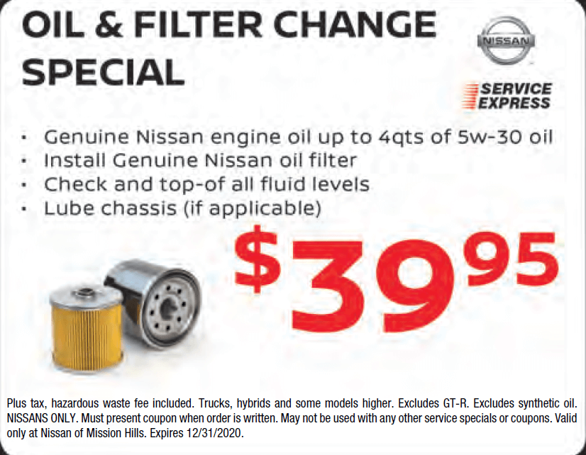 Oil & Filter Change Special