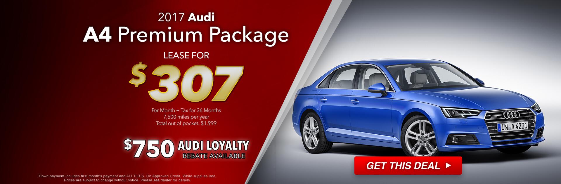 2017 Audi A4 Lease