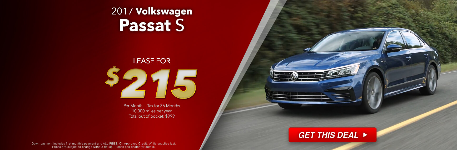 2017 VW Passat Lease