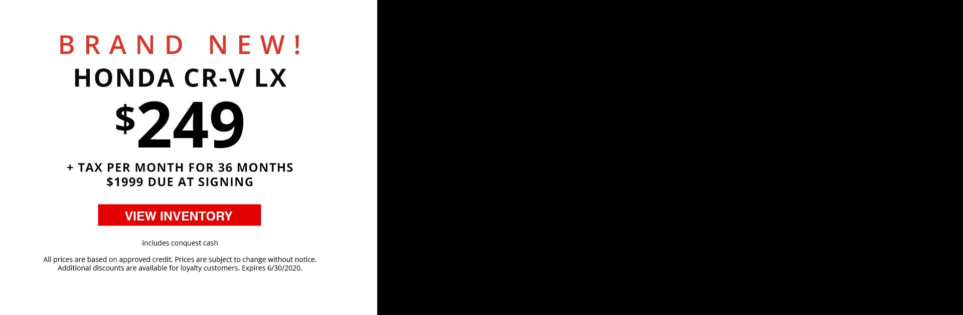 Video Banner - 2020 Honda CR-V LX