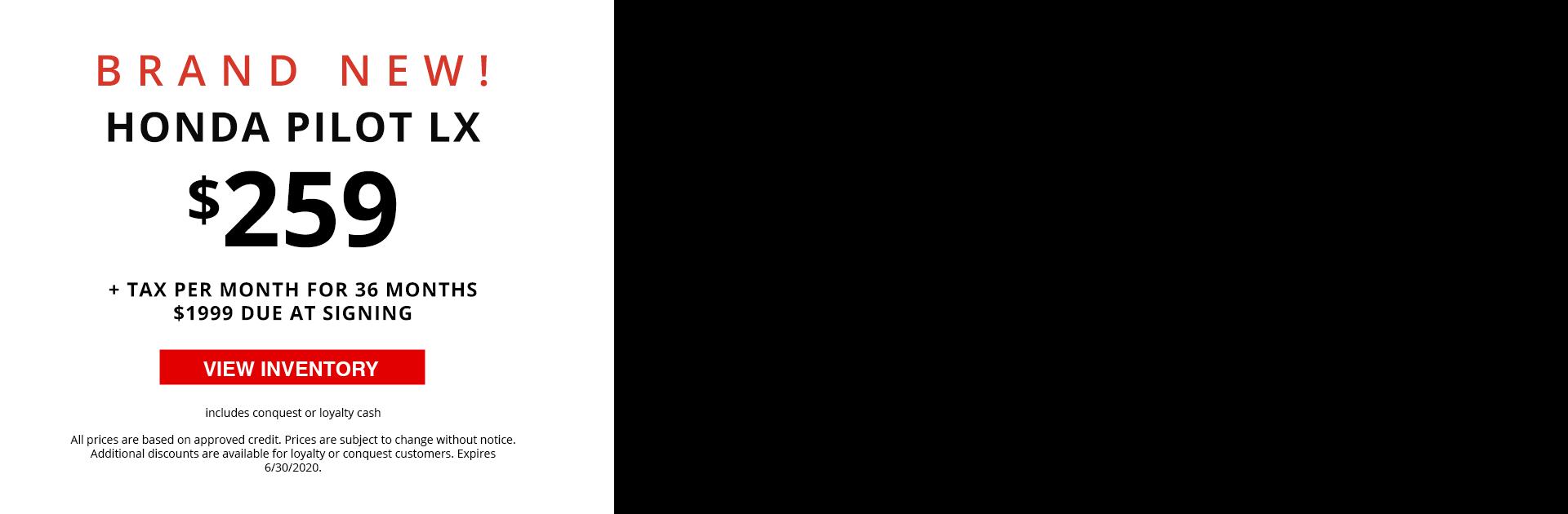 Video Banner - 2020 Honda Pilot LX