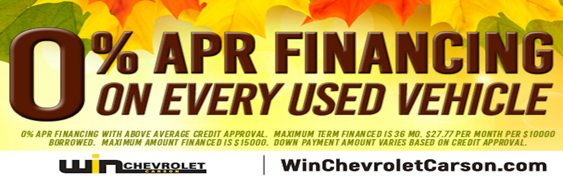 0% APR Financing - Chevy