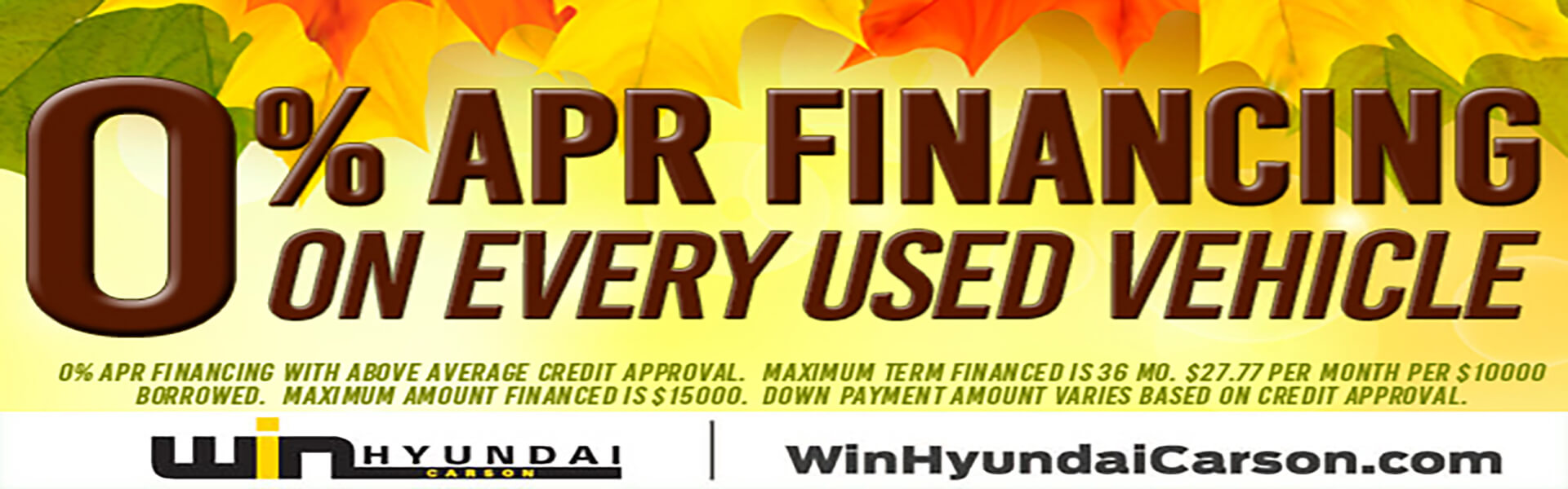0% APR Financing - Hyundai