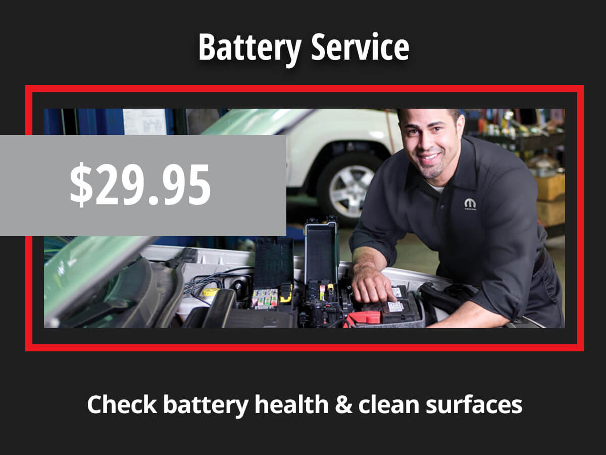 Chrysler Dodge Jeep Ram Battery Testing Coupon Special
