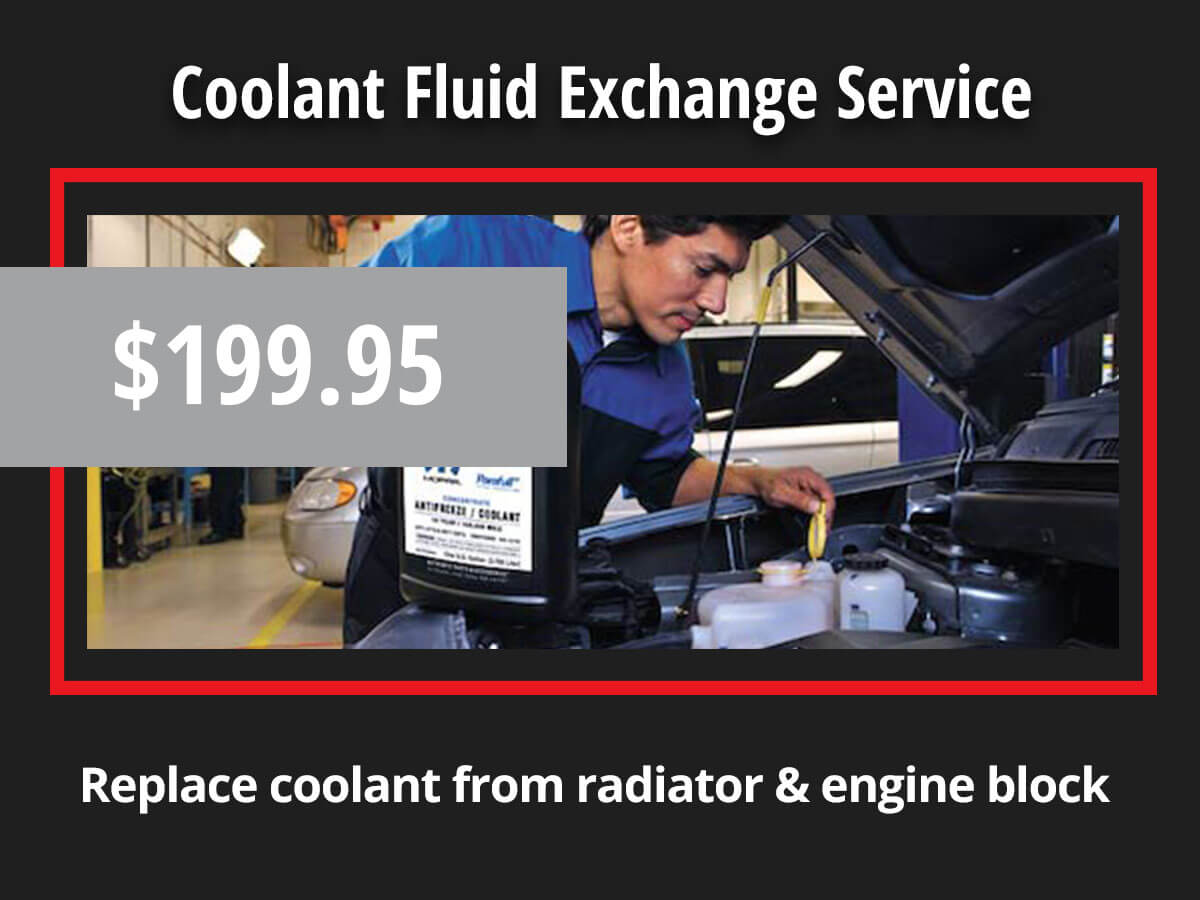 Chrysler Dodge Jeep Ram Coolant Fluid Exchange Coupon Special