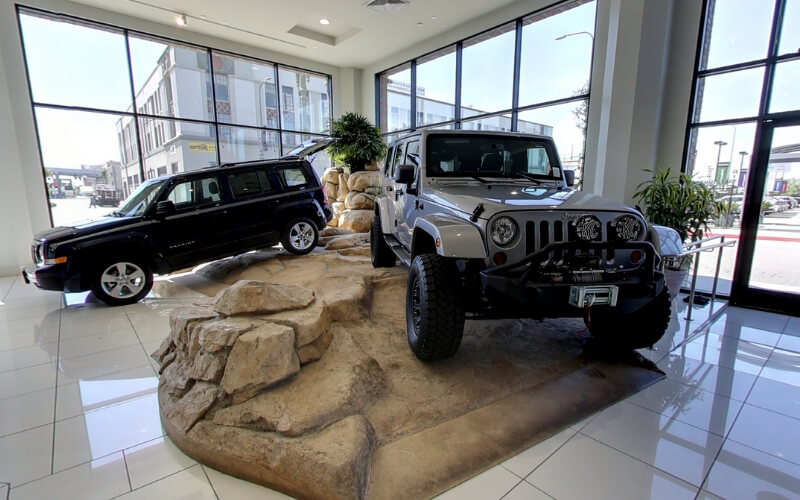 LA CDJR Jeep Rock Indoor Display