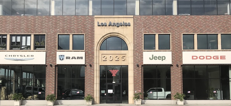 LA CDJR Dealership Exterior Building