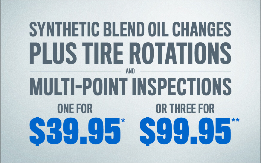 Synthetic Blend Oil Changes