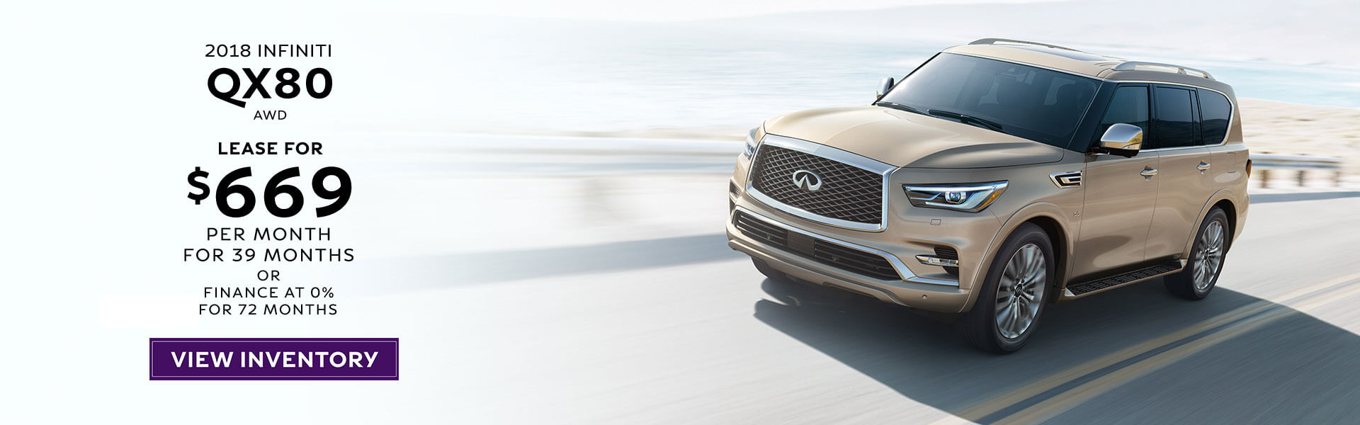 2019 QX80 - Lease for $669