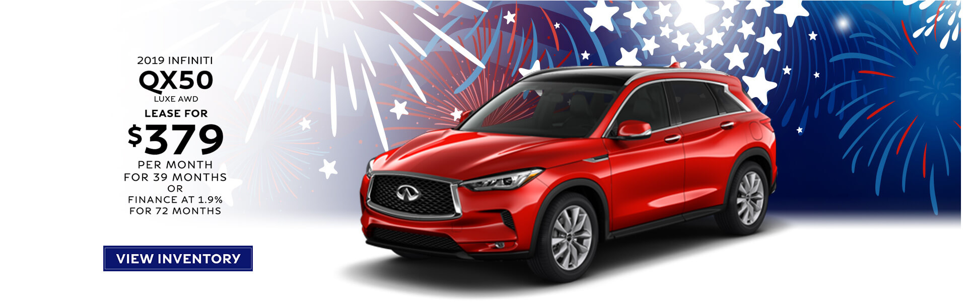 QX50 LUXE- Lease for $389