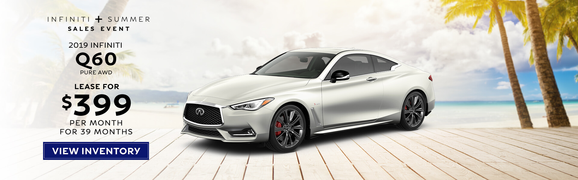 2019 Q60 - Lease for $399