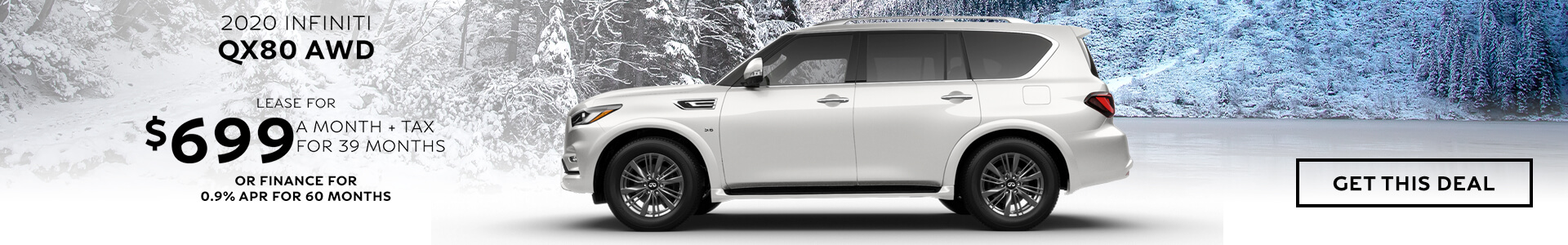 QX80 - Lease for $699