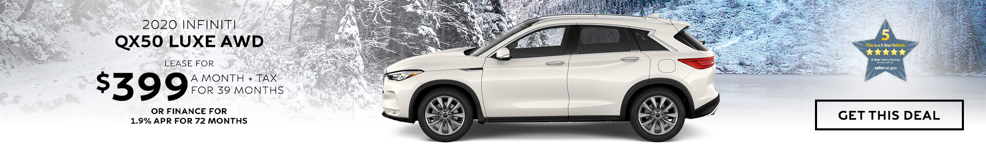 QX50 LUXE - Lease $399
